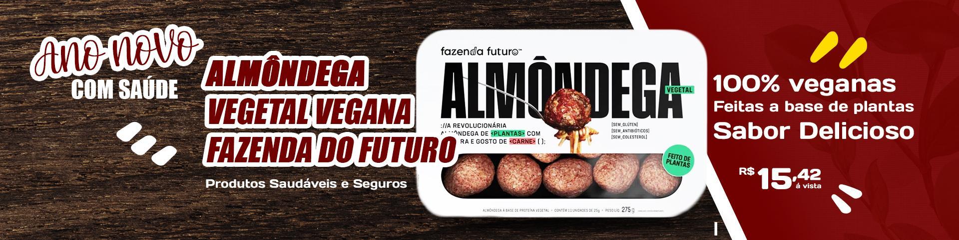 Almondega vegetal vegana a base de plantas Fazenda do Futuro
