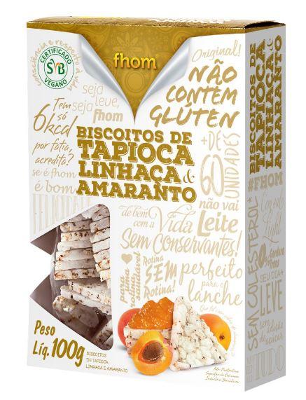 Biscoito de Tapioca, Linhaça e Amaranto