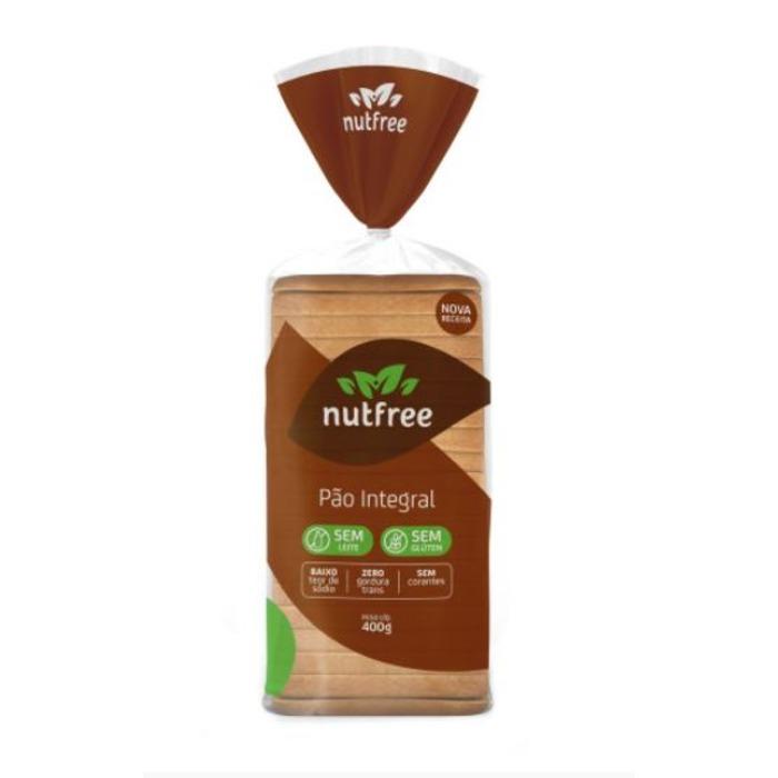 PÃO INTEGRAL SEM GLÚTEN NUTFREE