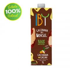 BEBIDA DE CASTANHA DO BRASIL IBY CASTANHA+CACAU 1L