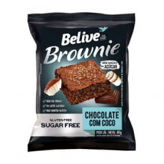 BROWNIE BELIVE COCO E CHOCOLATE 40G